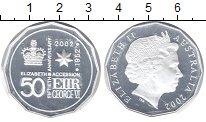 Изображение Монеты Австралия 50 центов 2002 Серебро Proof- 50 лет правления Ели