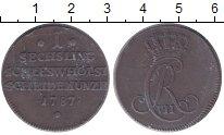 Изображение Монеты Шлезвиг-Гольштейн 1 сешлинг 1787 Медь XF+ Кристиан VII (Дания)