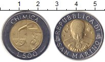Изображение Мелочь Сан-Марино 500 лир 1998 Биметалл UNC- Химия.