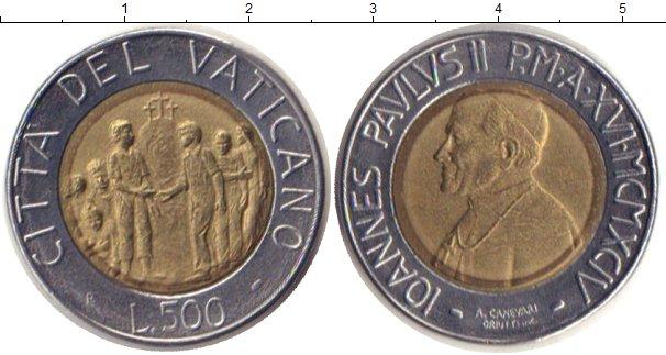 Картинка Монеты Ватикан 500 лир Биметалл 1994