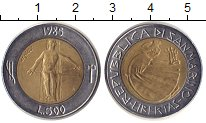 Изображение Монеты Сан-Марино 500 лир 1985 Биметалл XF Борьба с наркотиками