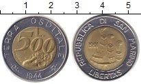 Изображение Монеты Сан-Марино 500 лир 1991 Биметалл XF