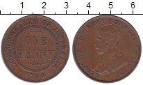 Изображение Мелочь Австралия 1 пенни 1924 Медь XF
