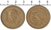 Изображение Монеты Мексика 1000 песо 1988 Медь XF Жуана де Асбайя.