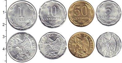 Изображение Наборы монет Чили Чили 1975-1979 1975 Медно-никель XF В наборе 4 монеты но