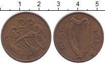 Изображение Барахолка Ирландия 2 пенса 1982 Бронза XF