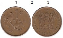 Изображение Барахолка ЮАР 1 цент 1986 Бронза XF