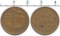Изображение Барахолка Барбадос 5 центов 1986 Латунь XF