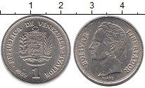 Изображение Дешевые монеты Венесуэла 1 боливар 1989 Медно-никель VF