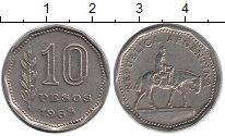 Изображение Барахолка Аргентина 10 песо 1968 Медно-никель XF