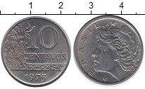 Изображение Дешевые монеты Бразилия 10 сентаво 1975 Железо XF