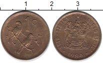 Изображение Барахолка ЮАР 1 цент 1984 Бронза XF