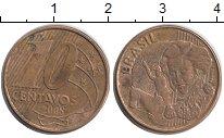 Изображение Дешевые монеты Бразилия 10 сентаво 2008 Латунь XF