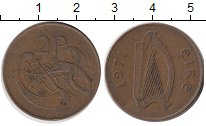 Изображение Барахолка Ирландия 2 пенса 1971 Бронза XF