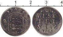 Изображение Монеты Нидерланды Западная Фризия 2 стивера 1745 Серебро XF