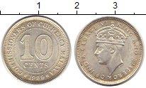 Изображение Монеты Великобритания Малайя 10 центов 1939 Серебро XF
