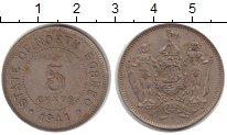 Изображение Монеты Борнео 5 центов 1941 Медно-никель XF