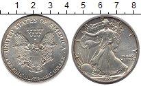 Изображение Монеты США 1 доллар 1989 Серебро UNC Шагающая Свобода.
