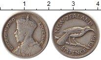 Изображение Монеты Новая Зеландия 6 пенсов 1936 Серебро XF Георг V