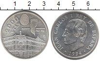 Изображение Монеты Испания 2000 песет 1994 Серебро Proof-
