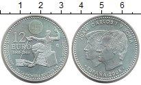Изображение Монеты Испания 12 евро 2005 Серебро Proof-