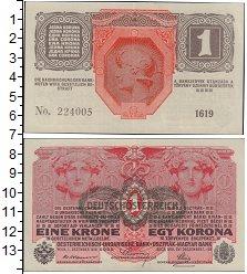 Банкнота Австрия 1 крона 1916 UNC