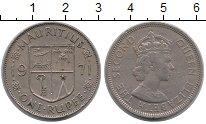 Изображение Монеты Маврикий 1 рупия 1971 Медно-никель XF Елизавета II.