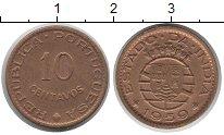 Изображение Монеты Португальская Индия 10 сентаво 1959 Медь XF