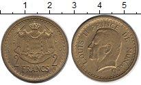 Изображение Монеты Монако 2 франка 1945 Медь XF
