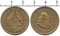 Изображение Монеты ЮАР 1/2 цента 1963 Медь XF Йохан ван Рибек - ос