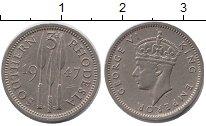 Изображение Монеты Великобритания Родезия 3 пенса 1940 Медно-никель XF