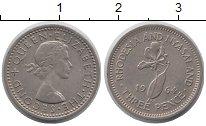 Изображение Монеты Родезия 3 пенса 1964 Медно-никель XF