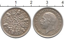 Изображение Монеты Великобритания 6 пенсов 1936 Серебро XF