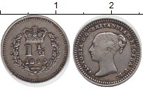Изображение Монеты Великобритания 1 1/2 пенса 1843 Серебро XF