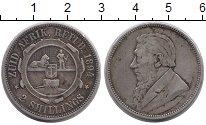 Изображение Монеты ЮАР 2 шиллинга 1894 Серебро XF Пауль Крюгер.
