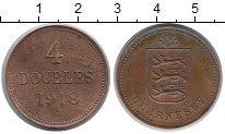 Изображение Монеты Гернси 4 дубля 1918 Медь XF