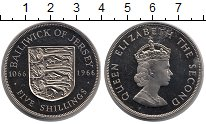 Изображение Монеты Остров Джерси 5 шиллингов 1966 Медно-никель Proof- Елизавета II. 900 -