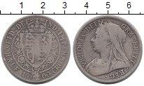 Изображение Монеты Великобритания 1/2 кроны 1900 Серебро VF