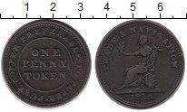 Изображение Монеты Великобритания 1 пенни 1814 Медь XF