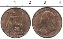 Изображение Монеты Великобритания 1 фартинг 1896 Медь XF