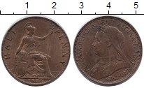 Изображение Монеты Великобритания 1/2 пенни 1901 Медь XF Королева Виктория.