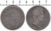 Изображение Монеты Франция 5 франков 1831 Серебро XF