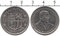 Изображение Монеты Маврикий 1 рупия 1990 Медно-никель XF