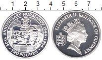 Изображение Монеты Гернси 2 фунта 1994 Серебро Proof Елизавета II. 50 - л