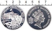 Изображение Монеты Гернси 2 фунта 1995 Серебро Proof