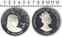 Изображение Монеты Багамские острова 25 долларов 1990 Серебро Proof