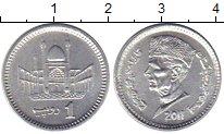 Изображение Мелочь Пакистан 1 рупия 2011 Медно-никель UNC-