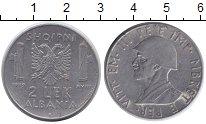 Изображение Монеты Албания 2 лека 1939 Железо XF Виктор Эммануил III.