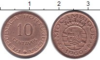 Изображение Монеты Мозамбик 10 сентаво 1960 Медь XF Протекторат Португал