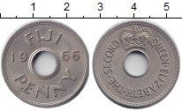 Изображение Мелочь Фиджи 1 пенни 1966 Медно-никель XF+